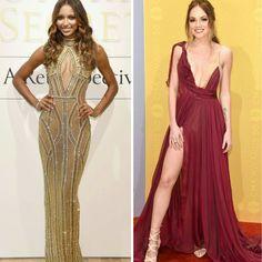 Dois lindos looks de festa da Jasmine Tookes, num evento da Victoria's Secret e da Danielle Bradbery #leannemarshall, no CMA Awards.✨ #glamourous #jasminetookes #daniellebradbery #fashionstyles #beautiful #partydresses
