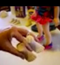 "Video tutorial; How to make a mold and cast a American Girl and any other Doll's foot to have your own shoe ""last"" for making doll shoes. Using Amazing Mold Putty and Plaster of Paris. Easy!"
