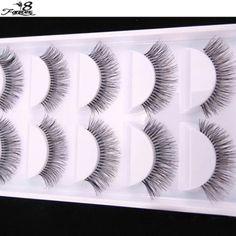 5 Pairs Natural Sparse Cross Eye Lashes Extension-makeupbyyo