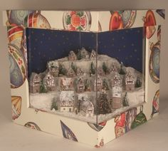 Christmas Village by Taller Targioni - $380.00 : Swan House Miniatures, Artisan Miniatures for Dollhouses and Roomboxes