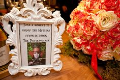 Signature Drink From the Alice in Wonderland Wedding at the Hotel Boulderado (Photo by Frances Photography)