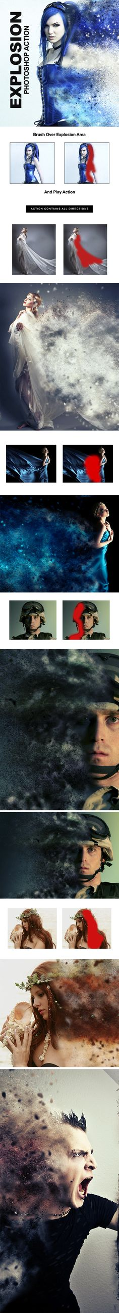 Explosion Action - Photo Effects Actions