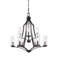 Feiss F3081/9DAC/AC Jacksboro - Nine Light Chandelier Something different for DR from all the others.