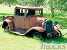 model A | Ford Model A Pickup Truck Broken Down Classic Photo 1