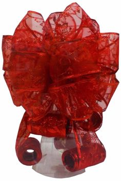 Elegant Red Tree Topper Bow Christmas Ornaments with Glittery Accents Decor  #Bow #RedBow #Elegant #TreeTopper #ChristmasDecor #Christmas #Decor #ChristmasOrnaments #GlitteryAccents #Accents #Glittery