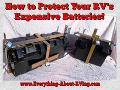 How to Protect Your RV's Expensive Batteries! This story was submitted on our RVing Tips And Tricks Page. WOW I have been looking for this for a while (Batteryshackle) very secure RV battery lock check