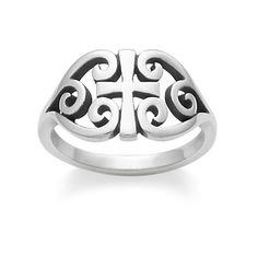 Scroll Cross Ring #jamesavery