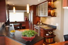 Open or visible storage makes small spaces appear larger