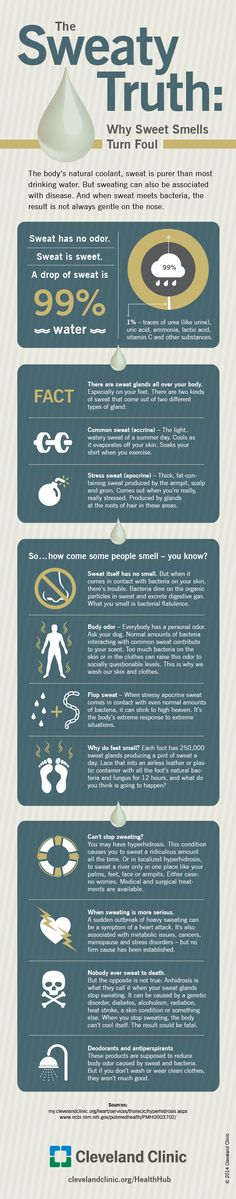 Why Do We Sweat? Find out. #infographic