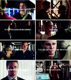 Don't ask me to say that I don't love you #Olicity #Arrow