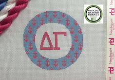 Delta Gamma Needlepoint Kit-ornament by NeedlepointbyLaura on Etsy