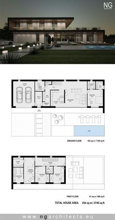 Modern Home Design Plans . Modern Home Design Plans . Pin On Modern House Plans Modern House Floor Plans, Sims House Plans, Home Design Floor Plans, House Layout Plans, Contemporary House Plans, New House Plans, Dream House Plans, Modern Architecture House, Architecture Plan