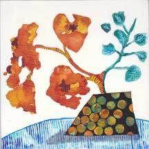 Naranjo. 8 x 8 Mixed Media on Canvas Panel. © 2015 Sheila Delgado