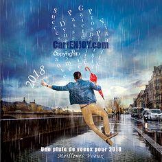 """""""une pluie de voeux"""" #cartedevoeux originale"""