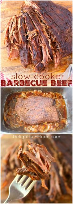 An amazing slow cooker meal, this Barbecue Beef recipe is the perfect dinner solution! Just a few minutes of prep, and your slow cooker does the rest. A fantastic way to prepare brisket, roast or flank, this BBQ beef is great for sandwiches and a delici Crock Pot Slow Cooker, Crock Pot Cooking, Slow Cooker Recipes, Crockpot Recipes, Cooking Recipes, Dinner Crockpot, Crockpot Flank Steak Recipes, Bbq Beef Crockpot, Beef Brisket Crock Pot