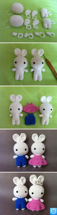 Easter bunny dolls with clothes