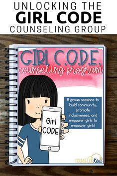 This elementary school small group counseling program promotes positive girl relationships! Teach your students about positive communities that value inclusiveness, diversity, and empowerment to transform the girl community in your school! As your students learn to unlock the Girl CODE, they will practice showing compassion, reframe pessimistic or negative views to build an attitude of optimism, embrace diversity, and explore actions that empower girls! -Counselor Keri