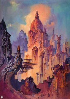 groovygraphics:  Bruce Pennington - Forest Temple