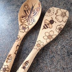 New stock coming soon! #pyrography #spoons