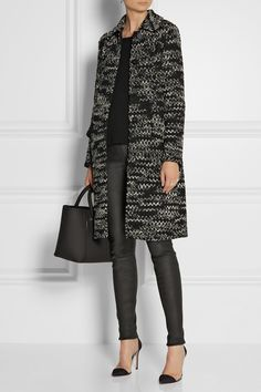 Missoni coat. The Row top. Helmut Lang pants. Gianvito Rossi shoes.