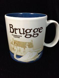 Starbucks Brugge Belgium Mug Minnewater Park Blue Swan Bruges Icon New #Starbucks