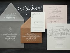 Sophisticated Calligraphy Wedding Invitations Atheneum Creative