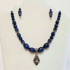 2 piece set necklace focal pendant and matching earings shades of purple with gold accents