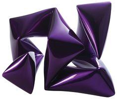 "Willi Siber [Germany] (b 1949) ~ ""Steel Object Violet"", 2014. Steel, chrome lacquer (37 x 29 x 26 cm). | #art #sculpture #abstract_art #conceptual_art #minimal_art #installation"