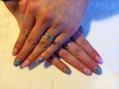 Cath Kidston inspired shellac nails that I did :-)