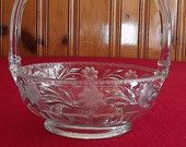 A.H. Heisey Wheel-Cut Crystal Art-Glass Basket - Signed
