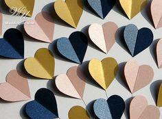 Hochzeit Gast Buch Idee mit erröten Blau Gold & Marine Herzen