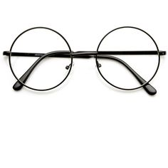 Vintage Lennon Inspired Clear Lens Round Frame Glasses 9222 ($13) ❤ liked on Polyvore featuring accessories, eyewear, eyeglasses, glasses, vintage eyeglasses, round glasses, round lens glasses, vintage glasses and clear round glasses
