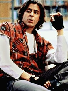 Judd Nelson - The Breakfast Club 1980s fashion.  My 1st hubby wore gloves like this.. lol