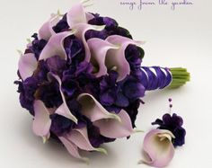 Calla Lily Hydrangea Bridesmaid Bouquet by SongsFromTheGarden