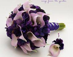 Calla Lily Hydrangea Bridesmaid Bouquet by SongsFromTheGarden