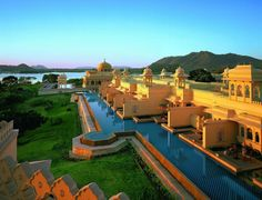 Oberoi Udaivilas, Udaipur, India.  Had an amazing lunch here when I was in India last fall.  Very very cool place!