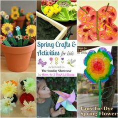 spring crafts and activities for kids - flowers, butterflies, pinwheels, science experiments, Play dough & more!