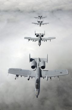 """A-10 Thunderbolt """"Warthogs"""" in formation"""