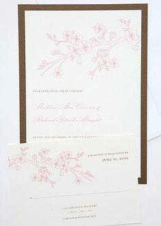 Classic Cherry Blossom Invitation