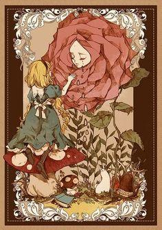 Alice in the rose garden