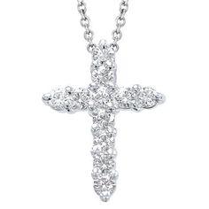Diamant Anhänger Kreuz in 585er Weißgold - 1.00 Karat Diamanten von www.juwelierhausabt.de in Dortmund.