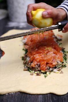 Kulebyaka ou Coulibiac de saumon