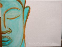 Step Introducing a bit of color to the face. Canvas Prints, Framed Prints, Art Prints, Artsy Pics, Buddha Painting, Blue Art, Unique Art, Fine Art America, Artworks