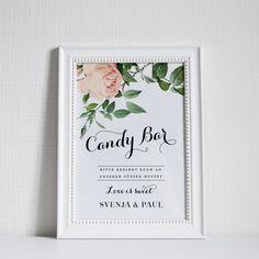 Hochzeitsdeko - Candy Bar Schild Hochzeitsdeko love is sweet - ein Designerstück von bonjourpaper bei DaWanda