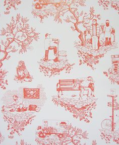 Flavor Paper Chinatown Toile Wallpaper | AllModern Part 54