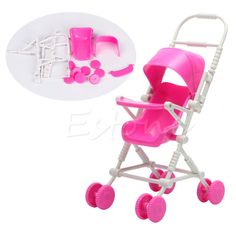 1pc New Assembly Baby Stroller Trolley Nursery Furniture Toys For Doll Pink #>=#>=#>=#>=#> Click on the pin to check out discount price, color, size, shipping, etc. Save and like it!