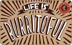 Chipotle Gift Card - E-mail Delivery: Amazon.com: Gift Cards