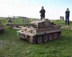 1/4 Scale RC Tiger 1 Driving Around