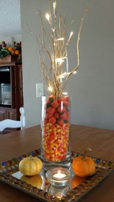 I Made this beautiful fall centerpiece.. everything is from Christmas tree shops!