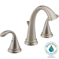 Delta Zella 8 in. Widespread 2-Handle Bathroom Faucet with Metal Drain Assembly in Stainless-35706LF-SS-ECO - The Home Depot